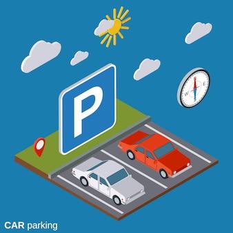 Auto parkeren illustratie