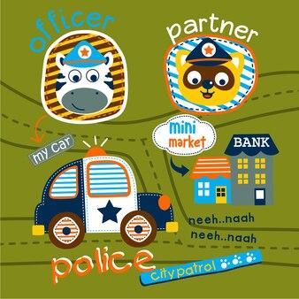 Auto politie op straat