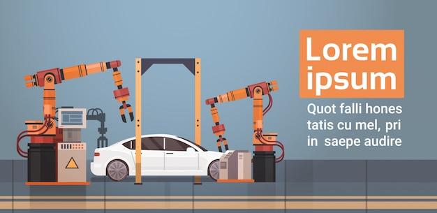 Auto productie transportband automatische assemblagelijn machines industriële automatisering industrie concept