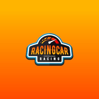 Auto racing logo ontwerp
