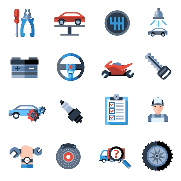 Auto reparatie pictogrammen