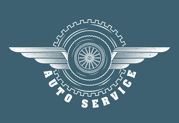 Auto reparatie service logo