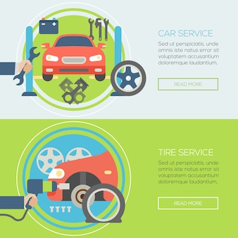 Auto reparatie service sjabloon voor spandoek
