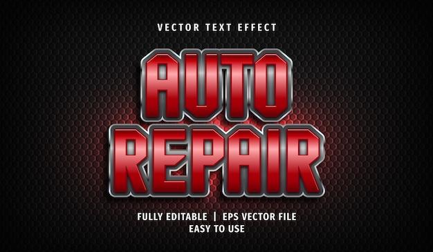 Auto reparatie teksteffect, bewerkbare tekststijl