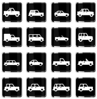 Auto's gewoon vector icon set