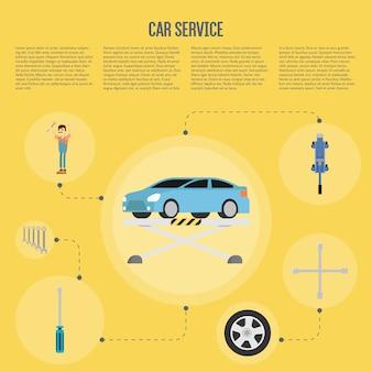 Auto serivce infographics