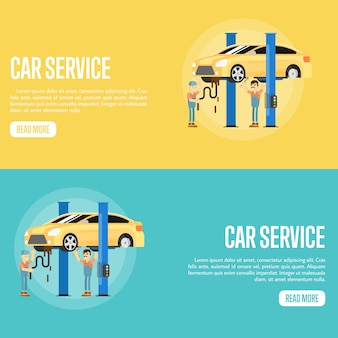 Auto service banners