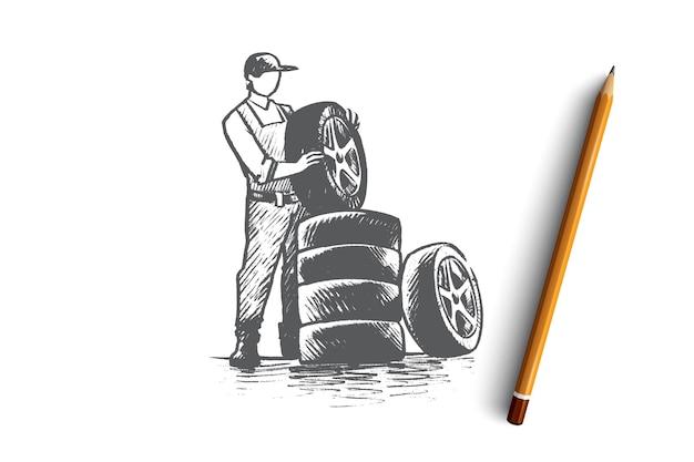 Auto service concept illustratie