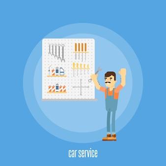 Auto service illustratie