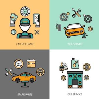 Auto service set