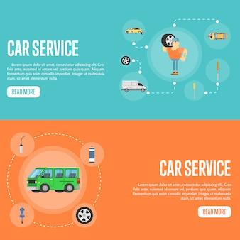 Auto service sjabloon voor spandoek