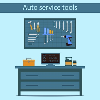 Auto service tool. kantoor auto master.