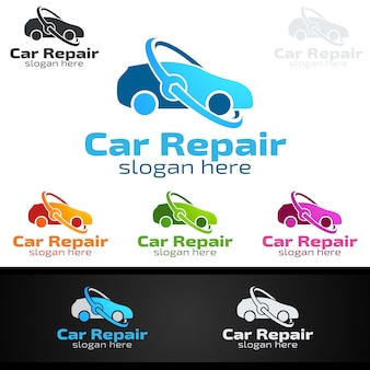 Auto service vector logo ontwerp