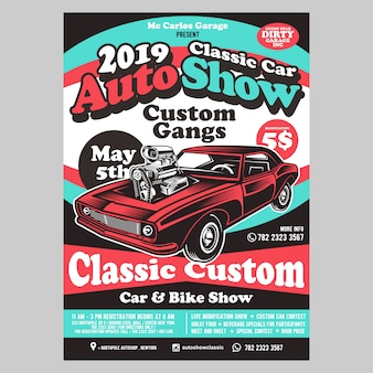 Auto show flyer-sjabloon
