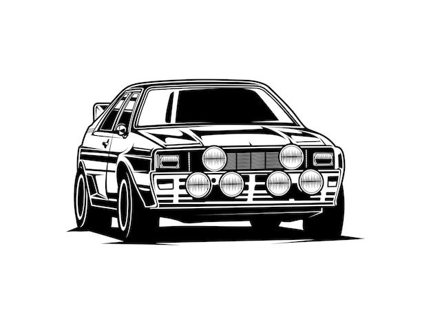 Auto silhouet