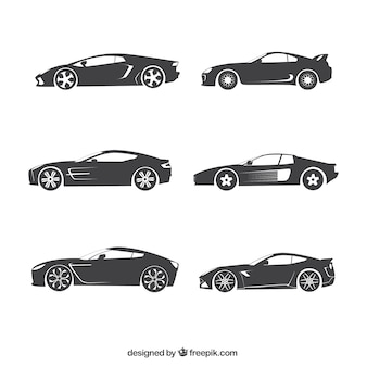 Auto silhouetten collectie