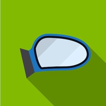 Auto spiegel vleugel platte pictogram illustratie geïsoleerde vector teken symbool