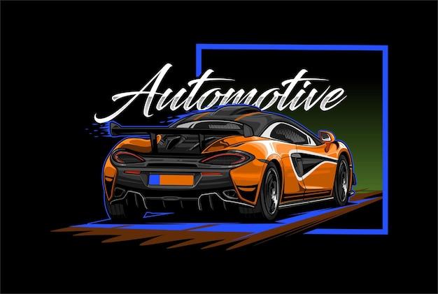 Auto sport achteraanzicht