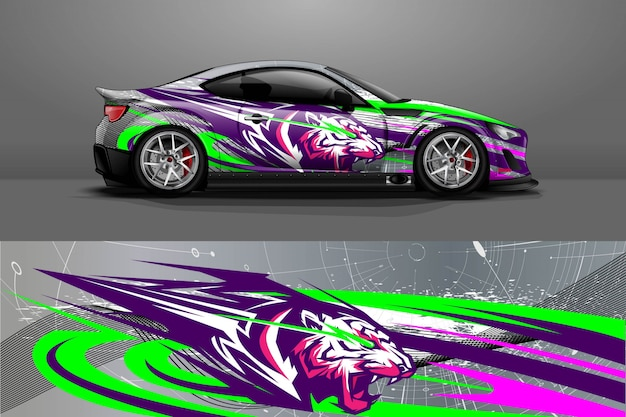 Auto sticker wrap illustratie