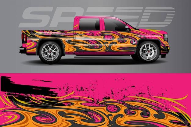 Auto sticker wrap illustratie
