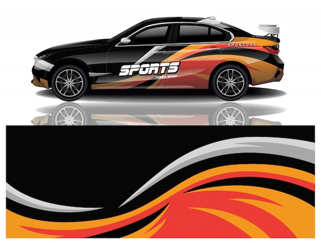 Auto sticker wrap ontwerp vector