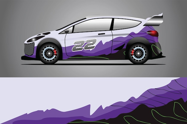 Auto sticker wrap ontwerp vector
