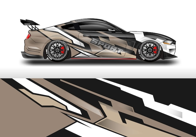 Auto sticker wrap ontwerp voor voertuig
