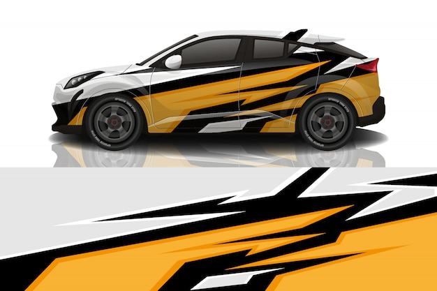Auto sticker wrap ontwerp