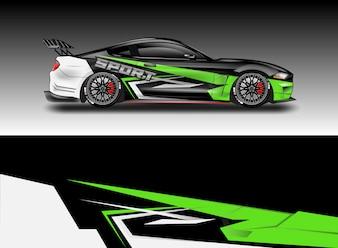 Auto sticker wrap vector ontwerpen