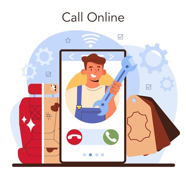 Auto tuning online service of platform. auto-interieur is vervangen