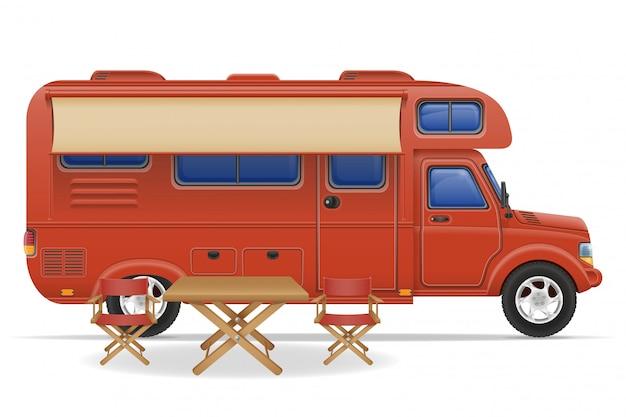 Auto van caravan camper stacaravan