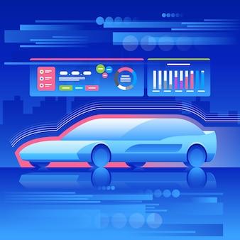 Auto van het toekomstige concept.