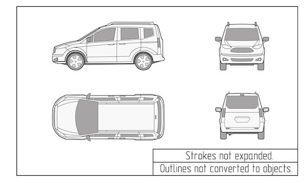 Auto van tekening contouren niet geconverteerd naar objecten