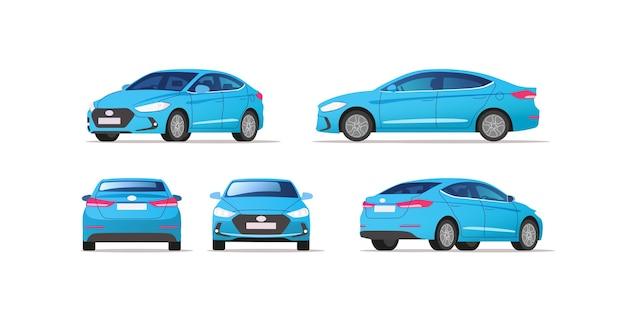 Auto vector sjabloon op witte achtergrond. zakelijke sedan geïsoleerd.