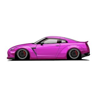 Auto vector zijaanzicht