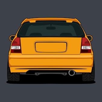 Auto vectorillustratie voor conceptueel ontwerp Premium Vector