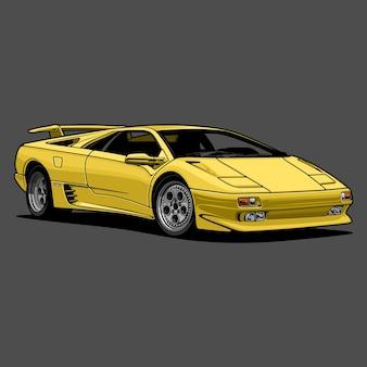 Auto vectorillustratie voor conceptueel ontwerp