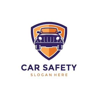 Auto veiligheid logo ontwerp inspiratie