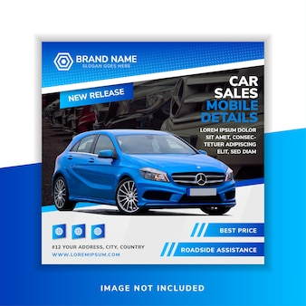 Auto verkoop sociale media banner ontwerpsjabloon.