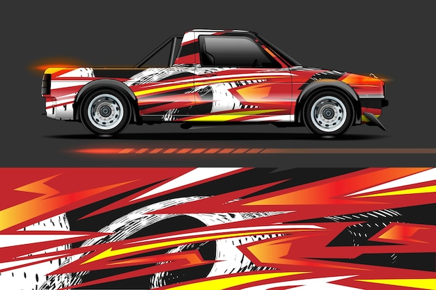 Auto-vinyl wrap ontwerp met racing stripe streak abstracte achtergrond