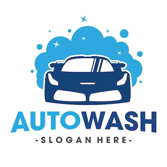 Auto wassen en clening car logo vector