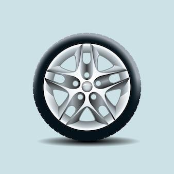 Auto wiel geïsoleerd op duidelijke achtergrond. vector illustratie