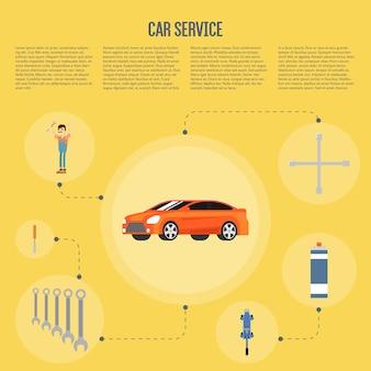 Auto winkel infographics
