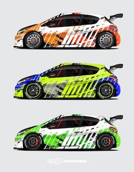 Auto wrap ontwerpen voor rally