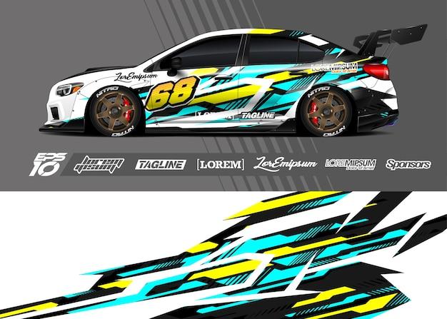 Auto wrap sticker. abstracte streep racen