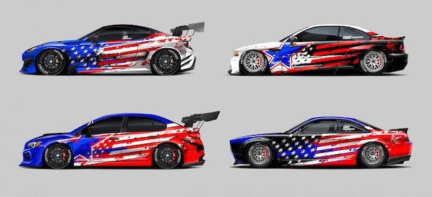Auto wrap sticker ontwerpen set