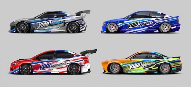 Auto wrap sticker set voor rally en race