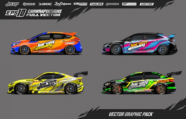 Auto wrap vector pack