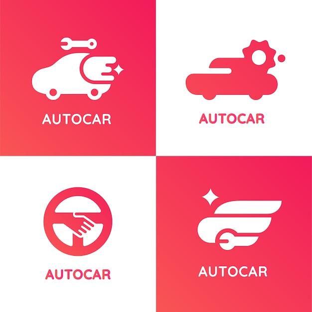 Autocar moderne stijl toepassingslogo