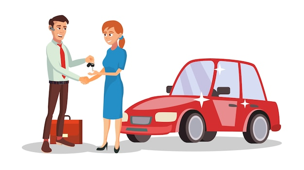 Autodealer verkoper